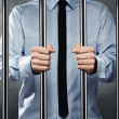 Man in jail — Stock Photo