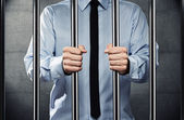 Homem na prisão — Foto Stock
