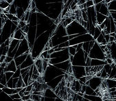 Broken glass background — Stockfoto