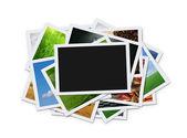 Pilha de fotografias instantâneas — Foto Stock