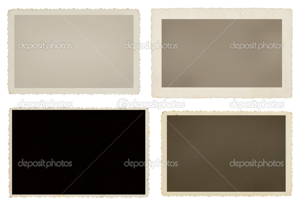Set of four blank picture frames with clipping paths for each — Stock Photo #8029177