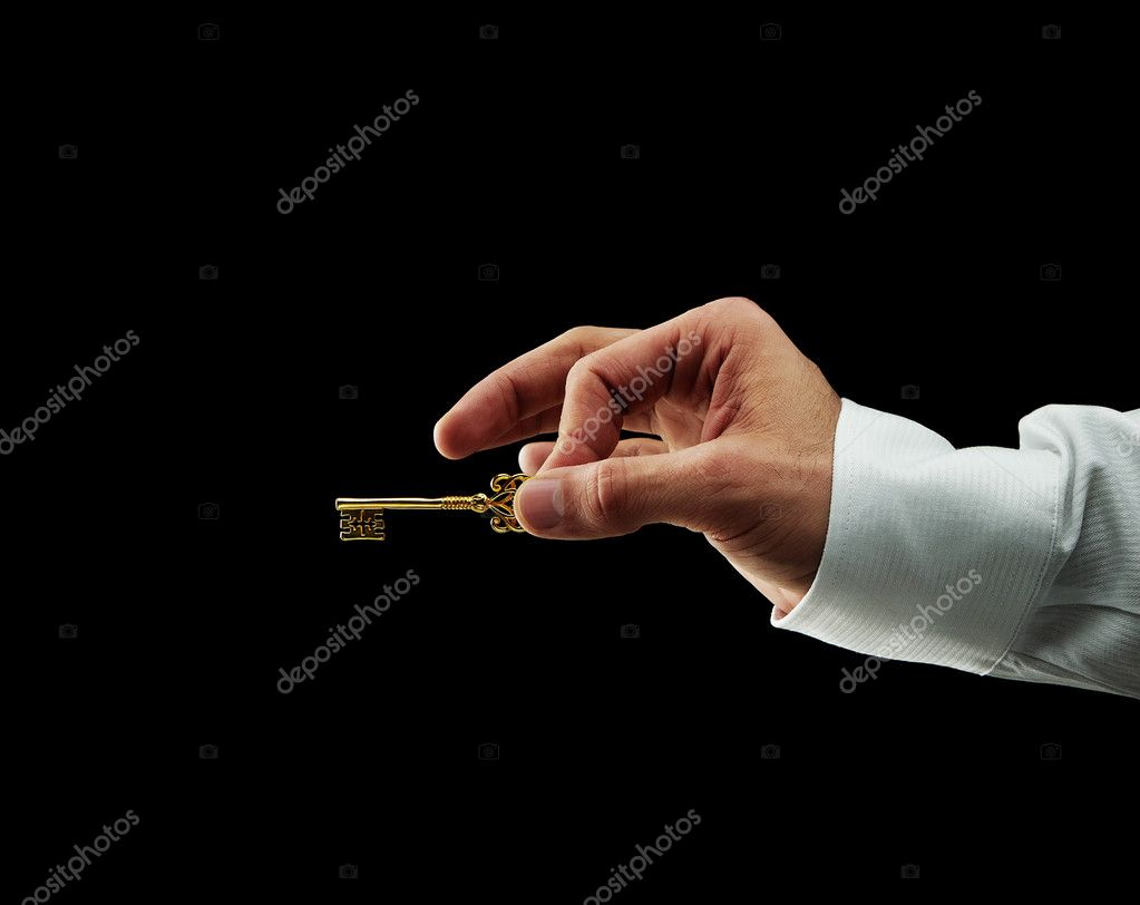 Human hand opening door to success — Stock Photo #8431155