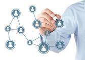 Rede social — Fotografia Stock