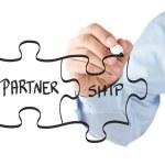 Partnership puzzle concept — Stock Photo