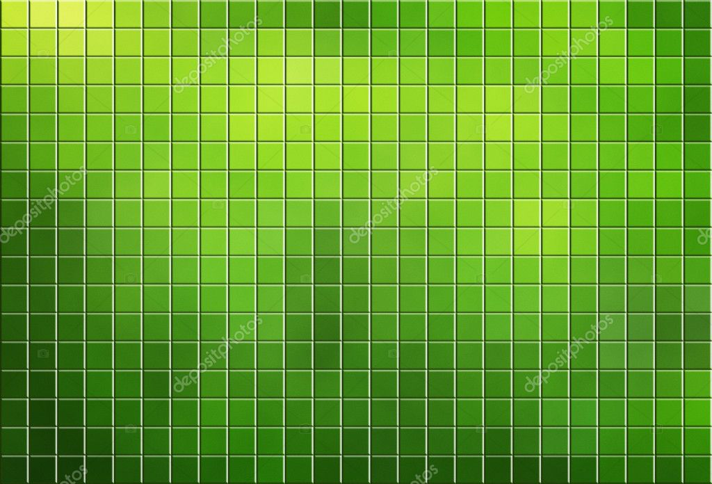 Green tiled mosaic background with copy space — Stock Photo #9084150