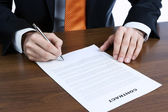 Signing a contract — Foto de Stock