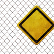 Grunge empty warning sign — Stock Photo