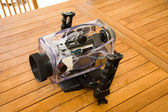 Broken camera underwater box — Stockfoto