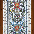 Stained lead window - Stock Photo