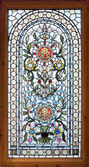 Stained lead window — Stock Photo