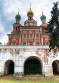 The Gate Church of Novodevichy Convent in Moscow — Stock Photo
