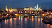 モスクワ クレムリン夜ビュー — ストック写真