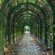 Trellis arches in Arkhangelskoe estate - Stock Photo