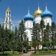 Assumption Cathedral in Trinity Sergius Lavra - 图库照片