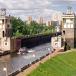 Stock Photo: Floodgates on Moscow canal