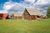 The traditional russian village — Stock Photo