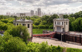 Floodgates on the Moscow canal — Stock Photo
