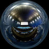 Spherical panorama of cinema hall — Stock Photo