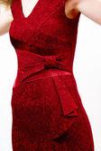červené šaty — Stock fotografie