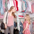 Stock Photo: Clothes shopping