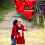 Valentines kids — Stock Photo