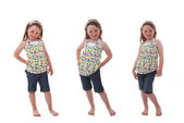 Happy Child in different poses — Stock Photo