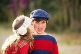 Children kiss — Stock Photo