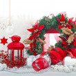 Christmas holiday decorations - Stock Photo