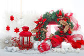 Christmas holiday decorations — Stock Photo