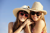 Summer teens on vacation — Stock Photo