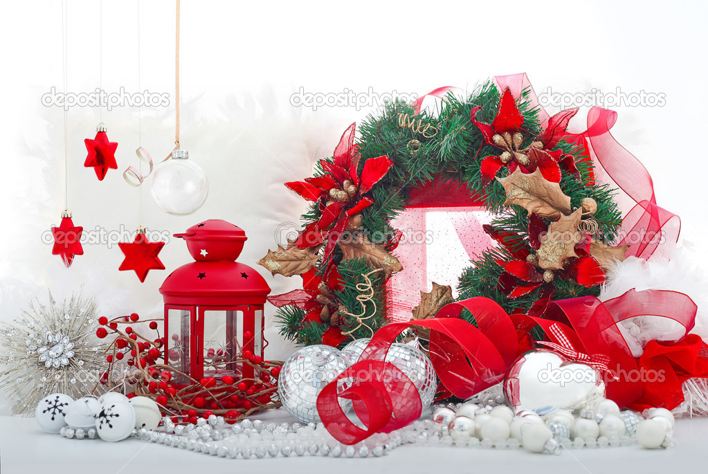 Christmas holiday decorations  Stock Photo #8022335