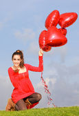 Valentines day girl — Stock Photo