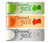 Discount tag label price — Stock Vector
