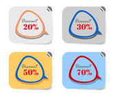 Promotion shopping label — Vector de stock