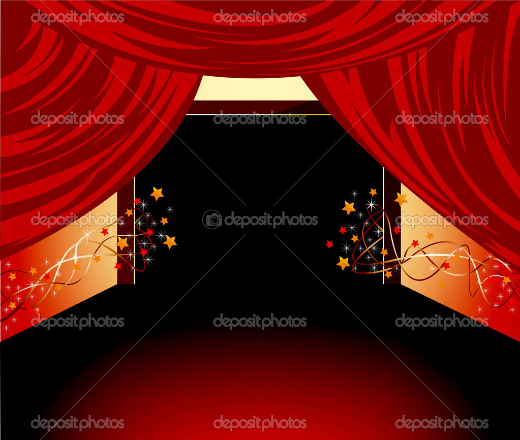 Red floor background  Stock Vector #10567876