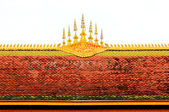 Roof of the temple in Laos — Stockfoto