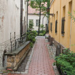 Narrow Riga street — Stock Photo