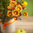 Stock Photo: Summer flowers bouquet in a vase, close-up