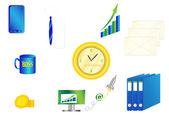 Office and business icons — Cтоковый вектор