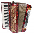 Accordion, it is isolated on white — Stock Photo
