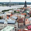 Stock Photo: View over Old Town of Riga, Latvia