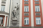 Facade of the old building in Riga — Stock Photo