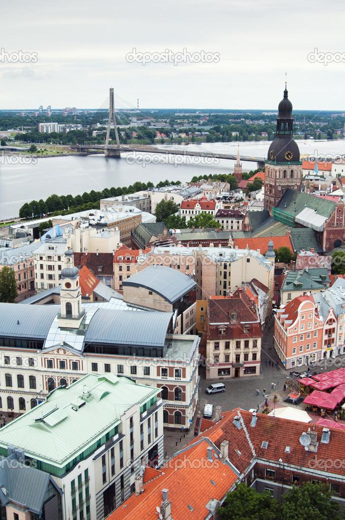 View over Old Town of Riga, Latvia — Stock Photo #9027633