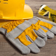 Safety gear kit close up — Stock Photo #9468135