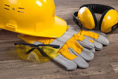 Safety gear kit close up — Zdjęcie stockowe