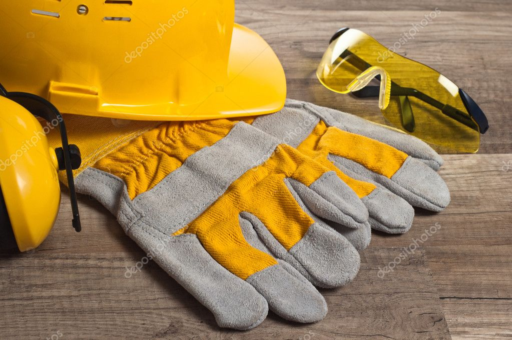 Standard construction safety equipment  Stock Photo #9468135