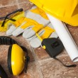 Stock Photo: Safety gear kit close up