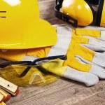 Safety gear kit close up — Stock Photo #9617440