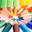 Tips of color pencils, close up — Stock Photo