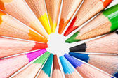 Tips of color pencils, close up — 图库照片